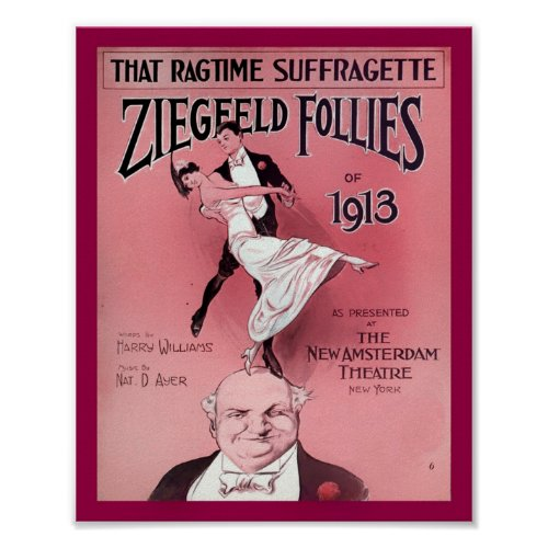 Ragtime Suffragette 1910's Sheet Music Cover Copy