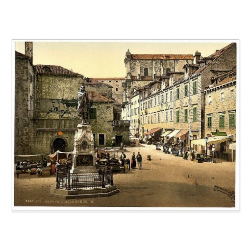 Ragusa, cuadrado de Gundulic, Dalmacia, Austro-Hun Postales