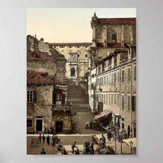 Ragusa, Jesuit Church and military hospital, Dalma Print