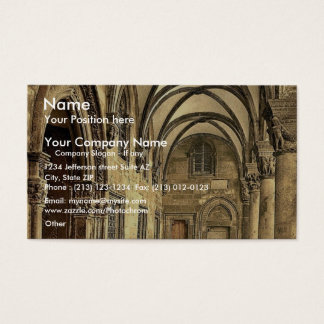 Ragusa, the Rettori Palace portico, Dalmatia, Aust Business Card