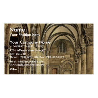 Ragusa, the Rettori Palace portico, Dalmatia, Aust Double-Sided Standard Business Cards (Pack Of 100)