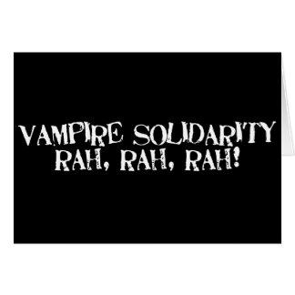 ¡Rah de la solidaridad del vampiro rah rah Felicitaciones
