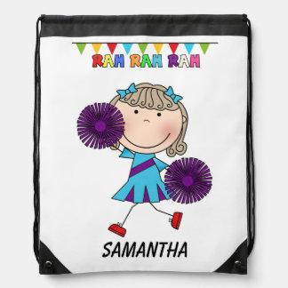 Rah Rah Cheerleader Drawstring Backpack Bag