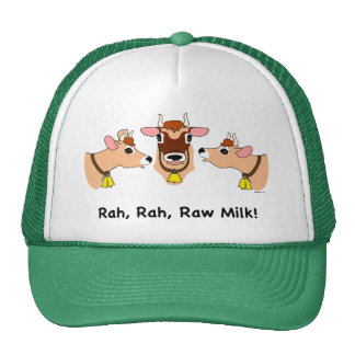 ¡Rah, Rah, leche cruda! Gorra