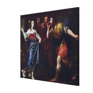 Rahab and the Emissaries of Joshua Canvas Print