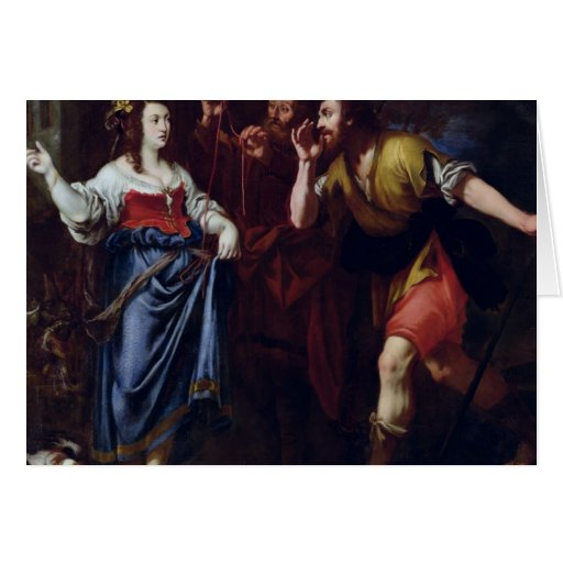 Rahab and the Emissaries of Joshua Card