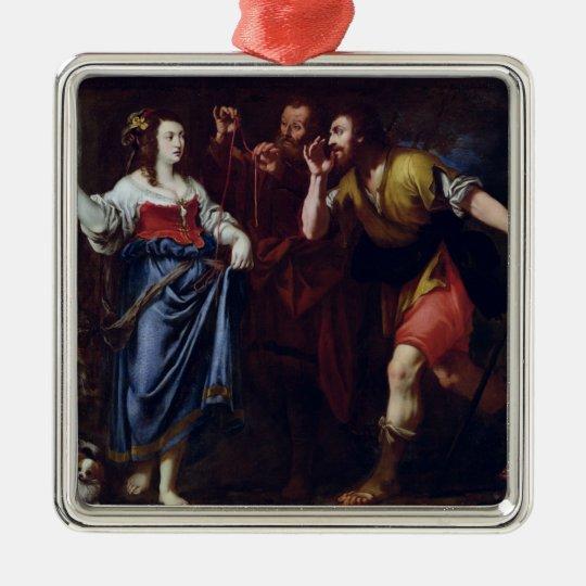 Rahab and the Emissaries of Joshua Metal Ornament