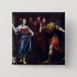 Rahab and the Emissaries of Joshua Pinback Button