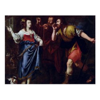 Rahab and the Emissaries of Joshua Postcard