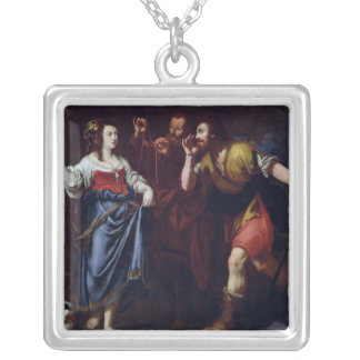 Rahab and the Emissaries of Joshua Silver Plated Necklace