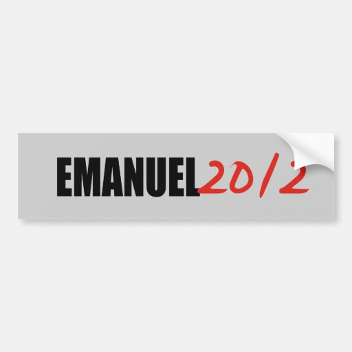 RAHM MANUEL ETIQUETA DE PARACHOQUE