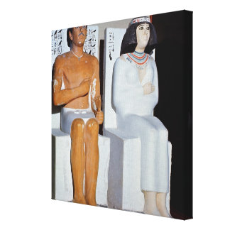 Rahotep and his Wife, Nofret, from Meydum Canvas Print