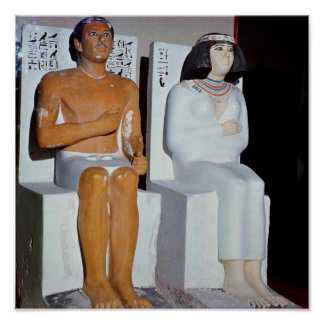Rahotep and his Wife, Nofret, from Meydum Poster