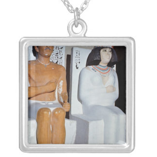 Rahotep and his Wife, Nofret, from Meydum Silver Plated Necklace
