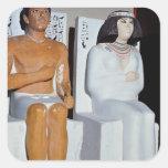 Rahotep y su esposa, Nofret, de Meydum Pegatinas Cuadradases Personalizadas