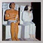 Rahotep y su esposa, Nofret, de Meydum Posters