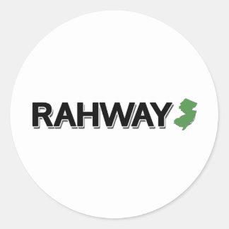 Rahway, New Jersey Classic Round Sticker