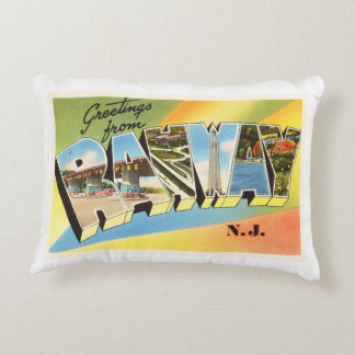 Rahway New Jersey NJ Old Vintage Travel Postcard- Decorative Pillow