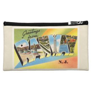 Rahway New Jersey NJ Old Vintage Travel Postcard- Makeup Bag