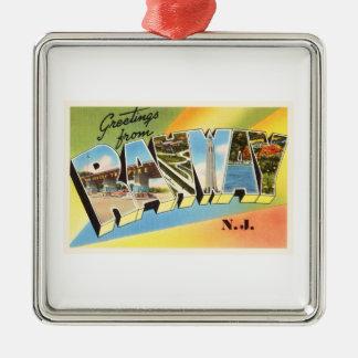 Rahway New Jersey NJ Old Vintage Travel Postcard- Metal Ornament