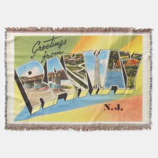 Rahway New Jersey NJ Old Vintage Travel Postcard- Throw