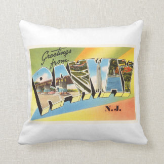 Rahway New Jersey NJ Old Vintage Travel Postcard- Throw Pillow