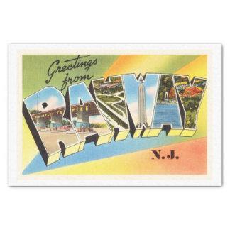 Rahway New Jersey NJ Old Vintage Travel Postcard- Tissue Paper