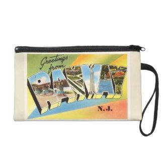Rahway New Jersey NJ Old Vintage Travel Postcard- Wristlet Purse