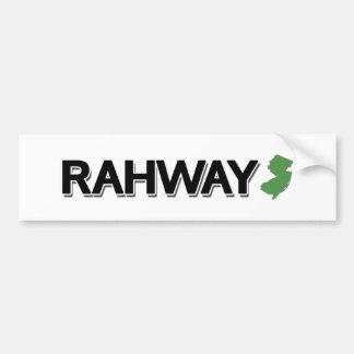 Rahway, New Jersey Pegatina Para Auto