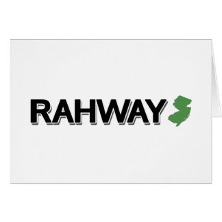 Rahway, New Jersey Tarjeta De Felicitación