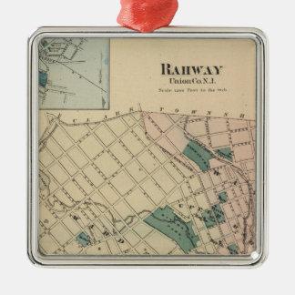 Rahway, NJ Adorno Cuadrado Plateado