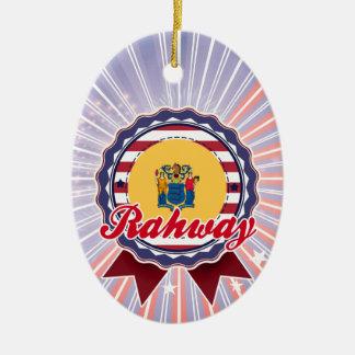 Rahway, NJ Adorno Ovalado De Cerámica