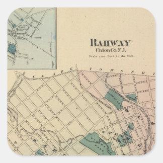 Rahway, NJ Pegatina Cuadrada