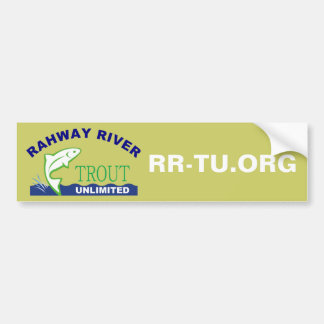 Rahway River Trout Unlimited Car Bumper Sticker