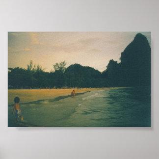 Rai Lei Beach, Krabi, Thailand Poster