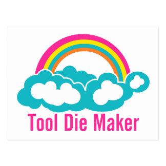Raibow Cloud Tool Die Maker Postcard