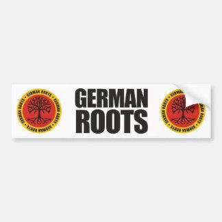 Raíces alemanas etiqueta de parachoque