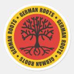 Raíces alemanas etiquetas redondas