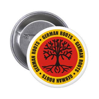 Raíces alemanas pin redondo de 2 pulgadas