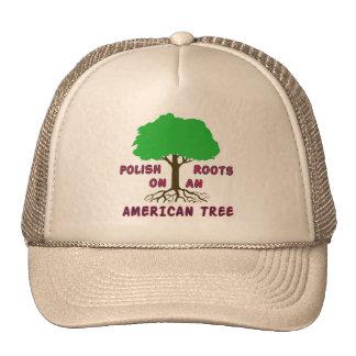 Raíces americanas polacas gorra