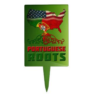 Raíces americanas portuguesas figuras para tartas