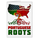 Raíces americanas portuguesas tarjeta de felicitación