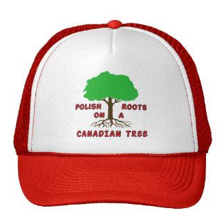 Raíces canadienses polacas gorros bordados