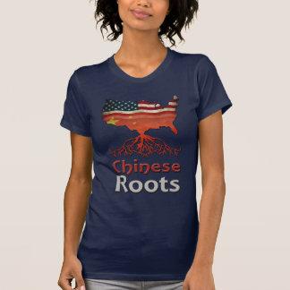 Raíces chinas americanas camiseta