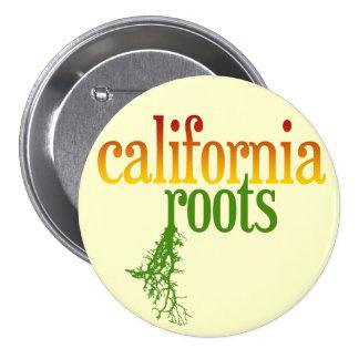 Raíces de California Pin Redondo De 3 Pulgadas