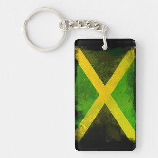 Raíces de Jamaica Llavero Rectangular Acrílico A Doble Cara