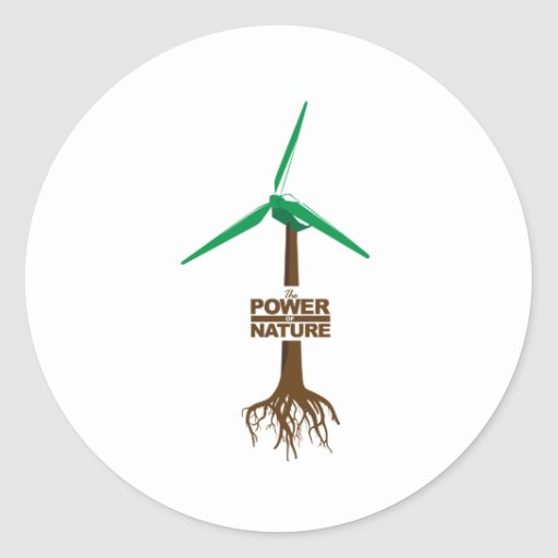 Raíces de la energía verde etiquetas redondas