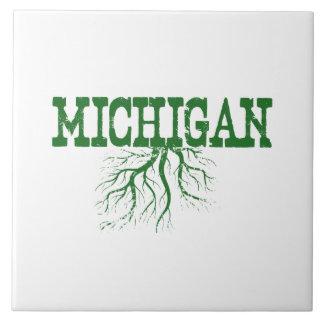 Raíces de Michigan Azulejo Cuadrado Grande
