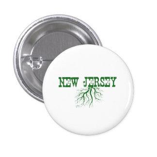Raíces de New Jersey Pin Redondo De 1 Pulgada