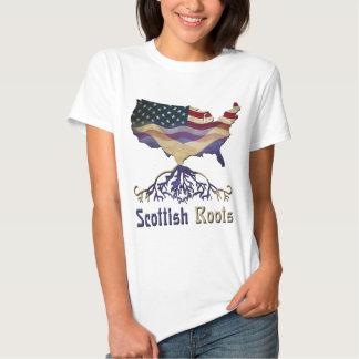 Raíces escocesas americanas playera